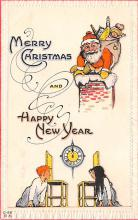 hol018301 - Santa Claus Christmas Old Vintage Antique Postcard