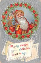 hol018303 - Santa Claus Christmas Old Vintage Antique Postcard