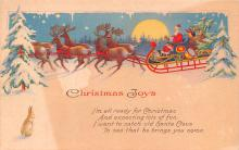 hol018311 - Santa Claus Christmas Old Vintage Antique Postcard