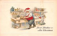 hol018317 - Santa Claus Christmas Old Vintage Antique Postcard