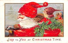 hol018321 - Santa Claus Christmas Old Vintage Antique Postcard