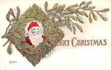 hol018329 - Santa Claus Christmas Old Vintage Antique Postcard
