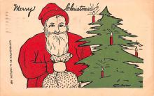 hol018337 - Santa Claus Christmas Old Vintage Antique Postcard