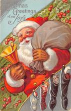 hol018339 - Santa Claus Christmas Old Vintage Antique Postcard