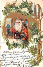 hol018347 - Santa Claus Christmas Old Vintage Antique Postcard