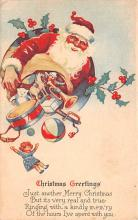 hol018351 - Santa Claus Christmas Old Vintage Antique Postcard