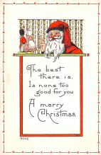 hol018353 - Santa Claus Christmas Old Vintage Antique Postcard