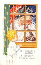 hol018355 - Santa Claus Christmas Old Vintage Antique Postcard