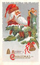 hol018357 - Santa Claus Christmas Old Vintage Antique Postcard