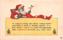 hol018359 - Santa Claus Christmas Old Vintage Antique Postcard