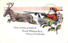 hol018361 - Santa Claus Christmas Old Vintage Antique Postcard