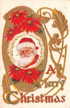 hol018369 - Santa Claus Christmas Old Vintage Antique Postcard