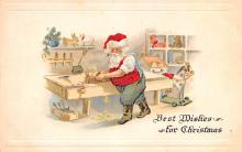 hol018373 - Santa Claus Christmas Old Vintage Antique Postcard