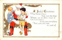 hol018375 - Santa Claus Christmas Old Vintage Antique Postcard