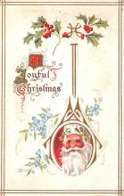 hol018379 - Santa Claus Christmas Old Vintage Antique Postcard