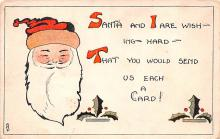 hol018381 - Santa Claus Christmas Old Vintage Antique Postcard
