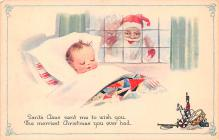 hol018389 - Santa Claus Christmas Old Vintage Antique Postcard