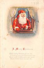 hol018393 - Santa Claus Christmas Old Vintage Antique Postcard