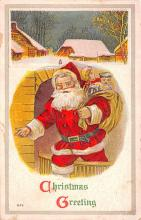 hol018401 - Santa Claus Christmas Old Vintage Antique Postcard