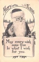 hol018425 - Santa Claus Christmas Old Vintage Antique Postcard