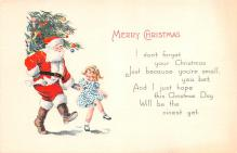 hol018435 - Santa Claus Christmas Old Vintage Antique Postcard