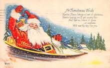 hol018451 - Santa Claus Christmas Old Vintage Antique Postcard
