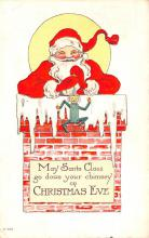 hol018461 - Santa Claus Christmas Old Vintage Antique Postcard