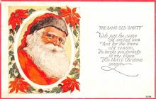 hol018469 - Santa Claus Christmas Old Vintage Antique Postcard