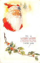 hol018471 - Santa Claus Christmas Old Vintage Antique Postcard