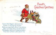 hol018473 - Santa Claus Christmas Old Vintage Antique Postcard