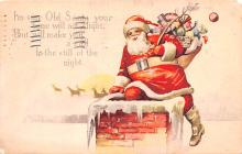 hol018475 - Santa Claus Christmas Old Vintage Antique Postcard