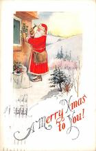 hol018477 - Santa Claus Christmas Old Vintage Antique Postcard