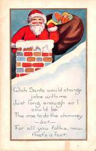 hol018485 - Santa Claus Christmas Old Vintage Antique Postcard