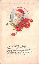 hol018487 - Santa Claus Christmas Old Vintage Antique Postcard