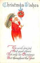 hol018503 - Santa Claus Christmas Old Vintage Antique Postcard