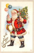 hol018505 - Santa Claus Christmas Old Vintage Antique Postcard