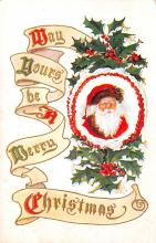 hol018507 - Santa Claus Christmas Old Vintage Antique Postcard