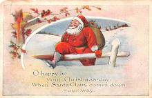 hol018509 - Santa Claus Christmas Old Vintage Antique Postcard