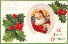hol018511 - Santa Claus Christmas Old Vintage Antique Postcard
