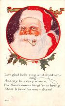 hol018515 - Santa Claus Christmas Old Vintage Antique Postcard