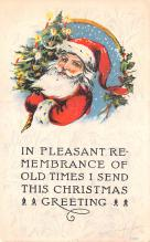 hol018517 - Santa Claus Christmas Old Vintage Antique Postcard