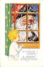 hol018521 - Santa Claus Christmas Old Vintage Antique Postcard