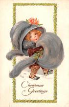 hol018535 - Santa Claus Christmas Old Vintage Antique Postcard