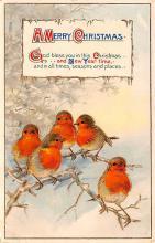 hol018541 - Santa Claus Christmas Old Vintage Antique Postcard