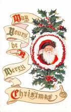 hol018551 - Santa Claus Christmas Old Vintage Antique Postcard