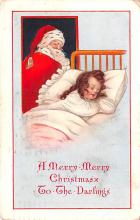 hol018563 - Santa Claus Christmas Old Vintage Antique Postcard