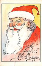 hol018571 - Santa Claus Christmas Old Vintage Antique Postcard