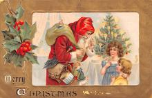 hol018573 - Santa Claus Christmas Old Vintage Antique Postcard