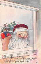 hol018577 - Santa Claus Christmas Old Vintage Antique Postcard