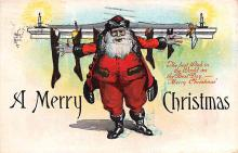 hol018581 - Santa Claus Christmas Old Vintage Antique Postcard